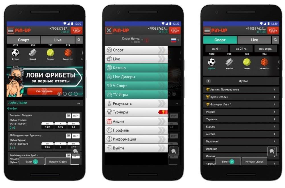 Мобильное приложение Пин-Ап
