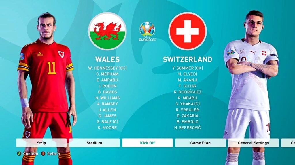 Швейцария - Уэльс сравнение на евро 2021
