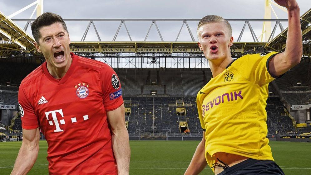 Левандовски и Холанд перед суперкубком Германии 2021