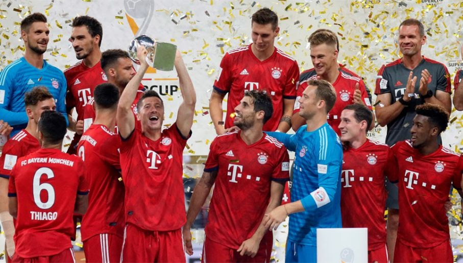 Рекордсмены обладатели суперкубка Германии - Бавария
