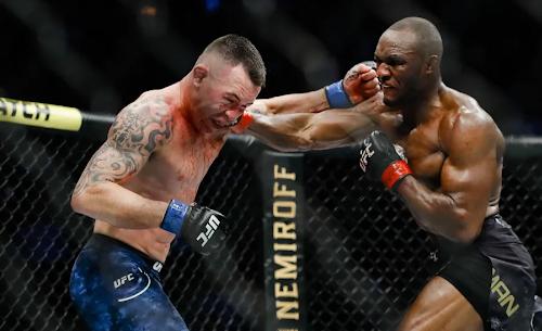первый бой Усмана против Ковингтона титульный бой UFC
