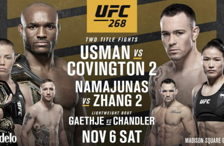 UFC 268: Ставки, превью Усман – Ковингтон 2, кард участников
