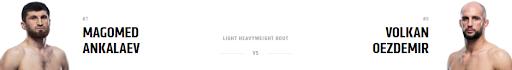 Ставки на UFC 267: Магомед Анкалаев - Волкан Оэздемир