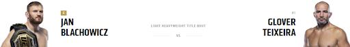 Ставки на Блахович -Тейшейра UFC 267