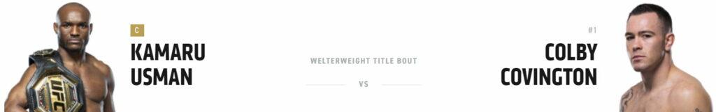 UFC Усман или Ковингтон